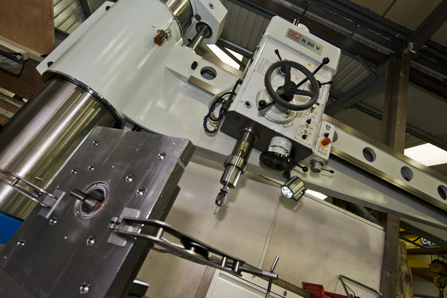 Large capacity radial drilling services from C&M Mould Tools in Dorset England uk